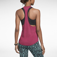 Nike Signal Textured Stripe Women's Tank Top - Bright Magenta
