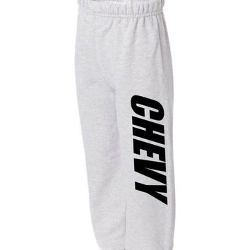 CHEVY SWEATPANTS TRUCKS RACING CAR GEAR HEAD