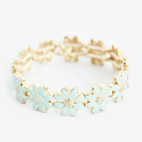 Baby Blue Daisy Stretch Bracelet
