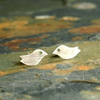 CHIRP CHIRP Sterling Silver studs by sophiapip on Etsy