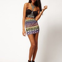ASOS | ASOS Mini Skirt in Aztec Print at ASOS