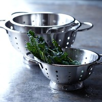 Williams-Sonoma Open Kitchen Stainless-Steel Colanders, Set of 3