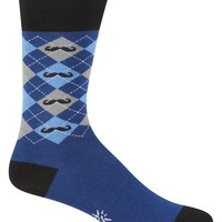 Men's Argyle Mustache Socks
