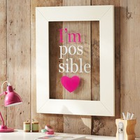 I'm Possible Framed Glass Art