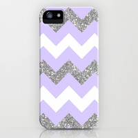 purple glitter chevron iPhone & iPod Case by Hannah