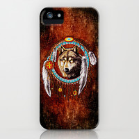 Indian Native Stark Clan Wolf Dream Catcher apple iPhone 3, 4 4s, 5 5s 5c, iPod & samsung galaxy s4 case cover