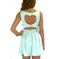 Queen of Hearts Mint Cut Out Summer Dress