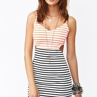 Seeing Stripes Cutout Dress in Clothes at Nasty Gal