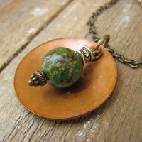 African Turquoise Necklace by CopperTreeArt on Etsy