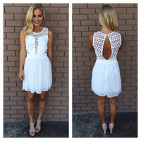 White Aliso Babydoll Dress