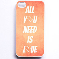 Iphone Case All You Need is Love Pink Coral by SSCphotographycases