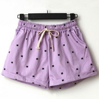 Cat Drawstring Shorts - OASAP.com