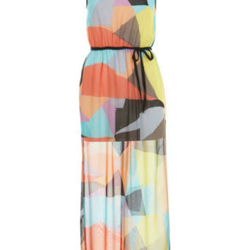 Petites Geo Printed Maxi Dress