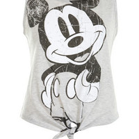 Grey Mickey Mouse Tie Vest