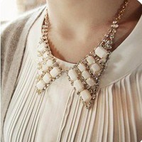 1PCS fashion Vintage Crystal Angel Wings Bib Chain Necklace free ship hot | eBay