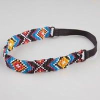 Full Tilt Ethnic Seed Bead Headband Multi One Size For Women 23459095701