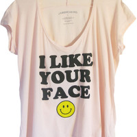 I Like Your Face V-Neck Wide Tee | Jawbreaking