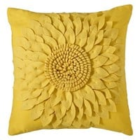 Threshold™ Decorative Flower Pillow - Yellow