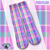 Custom Socks - Pink Plaid | Lacrosse Unlimited