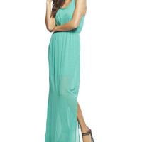 Knot Back Chiffon Maxi Dress | Wet Seal