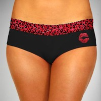 Black & Red Lip Lace Panty