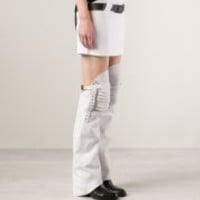 ANNE SOFIE MADSEN - Leather Leg Warmers - WHEEL LEG WHITE - H. Lorenzo