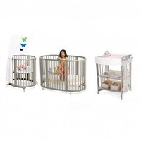 Stokke Sleepi Bassinet and Crib Nursery Set in Gray with Mattress - 103909 - Furniture
