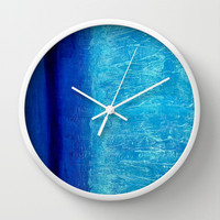 Blue Serenity Wall Clock by Bruce Stanfield