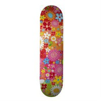 Pretty girly floral skateboard