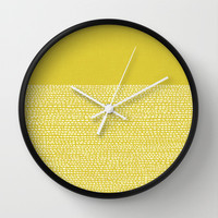 Riverside(Yellow) Wall Clock by Jacqueline Maldonado