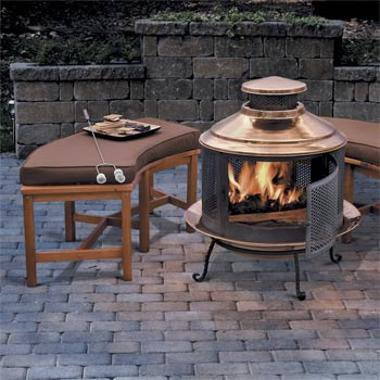 Curved Fire Pit Bench Outdoor Living From Skymall