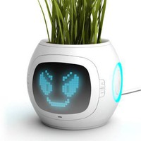 Junyi Heo?s Digital Pot Gives Your Plant a Face! | Inhabitat - Green Design Will Save the World