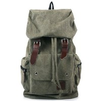 Casual Canvas Buckle Travel School Backpack Shoulder Bag
