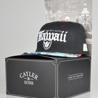 Cayler & Sons Outta Hawaii Snapback Cap - Black