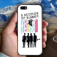 5 Seconds Of Summer (5sos) Poster - Print on hard plastic case for iPhone case. Select an option