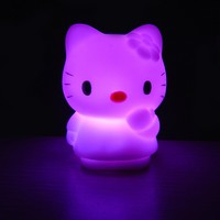 Automatic Color Gradients Hello Kitty Night Light