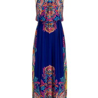 bright paisley print maxi dress