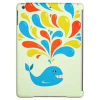 Bright Colorful Splash Happy Cartoon Whale iPad Air Case