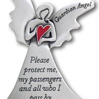 Angel Visor Clip Guardian Angel Heart Car Visor Clip