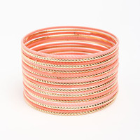 COLORED TEXTURED BANGLES