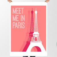 Paris Eiffel Tower PARIS ART PRINT, Paris Home Decor, Eiffel Tower Art, Eiffel Tower Print, Wall Decor Paris illustration Paris French Art