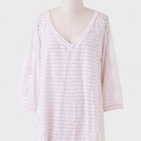 Midday Latte Striped Top