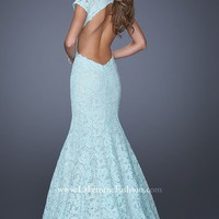 Mermaid Lace Gown by La Femme