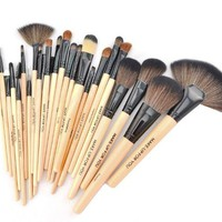Crazycity Professional Makeup Cosmetic Brush Set Kit with Pouch Bag Case (24pcs)