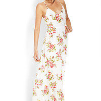Cutout Rose Maxi Dress