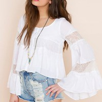 Faithful Top - White in  Sale Tops at Nasty Gal