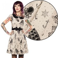 Sourpuss Lizzie Krakens Revenge Tattoo Dress