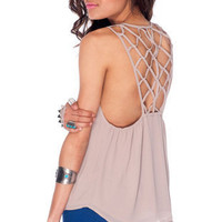 Annette Tank Top in Mauve :: tobi
