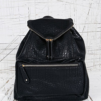 Zip Flap Backpack in Black - Urban Outfitters