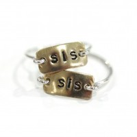 Sis Rectangular Ring Set